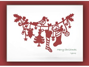 Christmas wall deco and Card Decoration