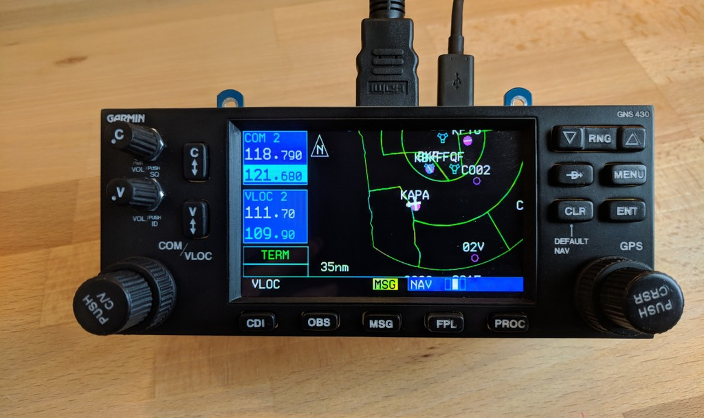 Garmin GNS 430 - Flight Simulator Hardware Interface by allanglen