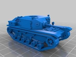 Type 92 Jyu Sokosha light tank 28mm / 1:56