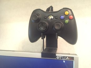 Xbox holder with mount on the monitor