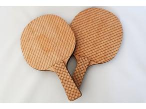 Ping Pong Paddles (Laser Cut)
