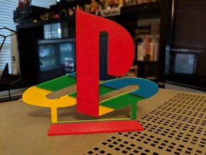 Full colour Playstation logo for single extruder printers