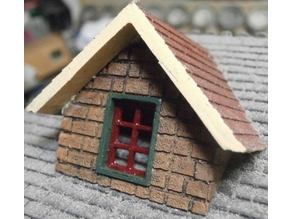 SCALEPRINT RD-11 STONE DORMER FOR 45 DEGREE ROOF 00/HO SCALE