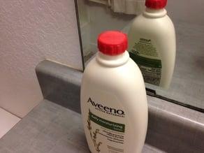 Threaded cap for Aveeno lotion bottle