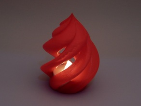 Twisting Flame for LED tealight