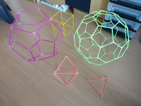 Connectors for Platonic and Archimedean solids or polyhedra