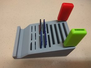 Memory card Stick Storage and Universal Phone Stand