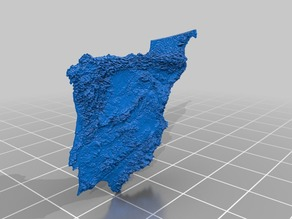 Iberia Mountains - A 3D topography map