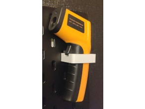 Infrared thermometer hanger for IKEA SKADIS