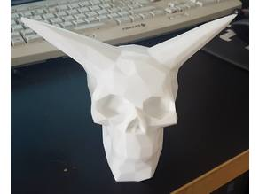 Low Poly Hollow Celtic Skull with Horns for Mood Light