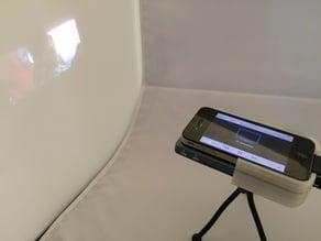 Laser projector iPhone tripod mount