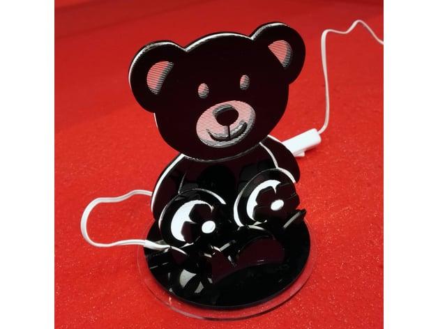 Teddy Bear Led Lamp By Dalia Ge Thingiverse