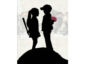 Banksy: mace and flowers