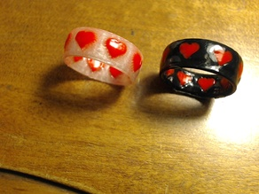 Dual-Color Ring - Heart