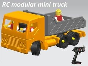 Manual/RC modular mini truck - drive train
