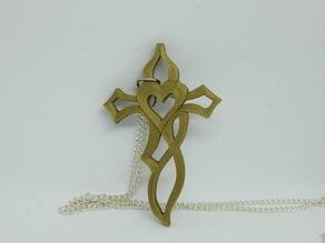 """jewellery """"cross in heart"""""""