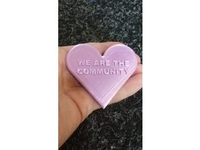 We Are The Community heart