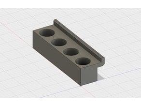 Reloading die holder slot wall (slatwall)