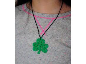 St Patrick's Day Shamrock Pendant