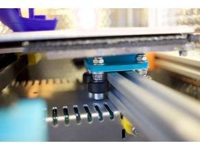 PetraPrinter: Y Axis v-wheel delrin rollers 2020 bosch profile extrusion