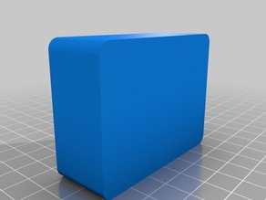 caja con mecanismo snap fit redondeado