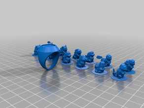ring toppers the poke monster set