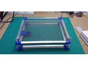 Manual adjustable bed for Co2 Laser (k40)