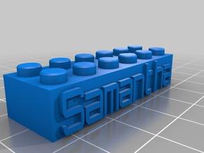 Samantha - Lego Block Necklace/Keychain
