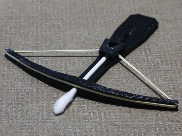 Cotton Swab Crossbow By Lorenmcconnell Thingiverse
