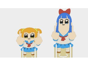Pop Team Epic - Bookmark - Pipimi & Popuko
