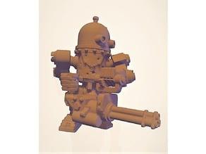 Retro Robot with Minigun