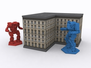 Tabletop Building - 3D Roof/Base + Papercraft Walls