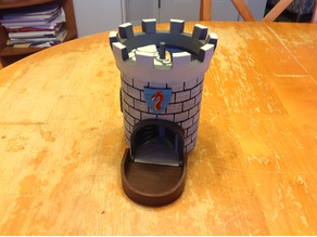 Dice Tower with Secret Chamber for Dice Storage II