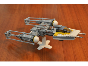 Display stand for LEGO Y-Wing 75172