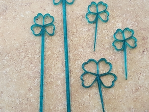 Lucky St. Patrick's Day Party Picks and Swizzle Sticks