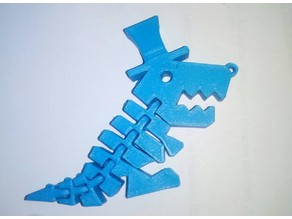 Mr. Flexi Rex keychain