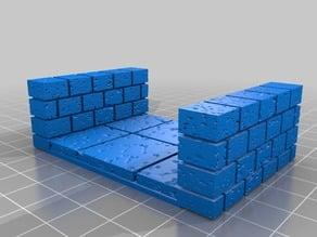 OpenForge Half Cut Stone Hallway (2x Wide)