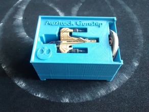 Auzituck Gunship x1 and x2 Holder (X-Wing Miniatures) for Stanley organizer
