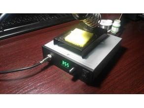 Box for soldering iron Hakko T12 from CD-ROM housing