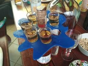 Shot Glass Holder on Bottle