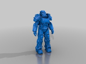 'wearable' T60b Power Armor from Fallout 4 Brotherhood of Steel