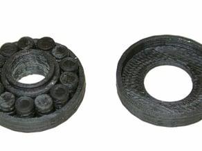 Fully printable 608 roll bearing