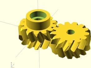 RepRap Pro Ormerod iamburnys Z Gears - Parametric - Double Helix - Herringbone