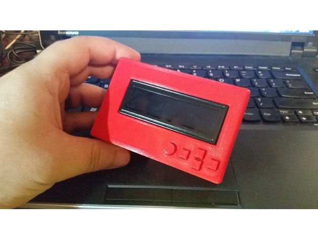 Raspberry Pi Adafruit LCD Keypad Case (For Pi1, Pi2, and Pi3