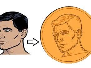 3D printable head relief