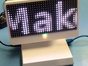 iPi Raspberry Pi enclosure with 16x32 RGB LED Matrix Display