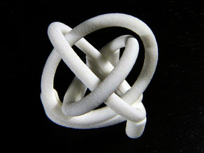 Borromean rings with stand
