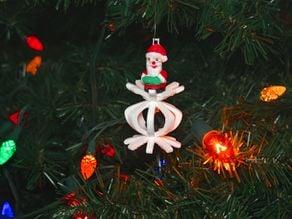 Santa With Coal Ornament