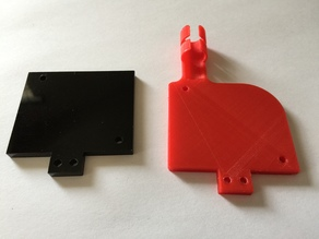 "Anet A6 Air blower fixed Plate with cable Guide ""Version 2"""