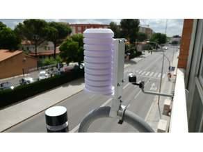 Netatmo tube mount + TFA weather shield